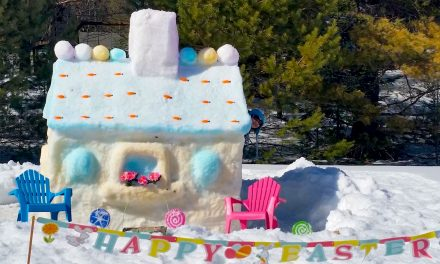 Build your entry for the snow sculpture contest