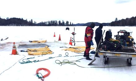 Morin's Collision recovers submerged truck
