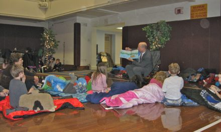 PARP kids snuggle up to a good book