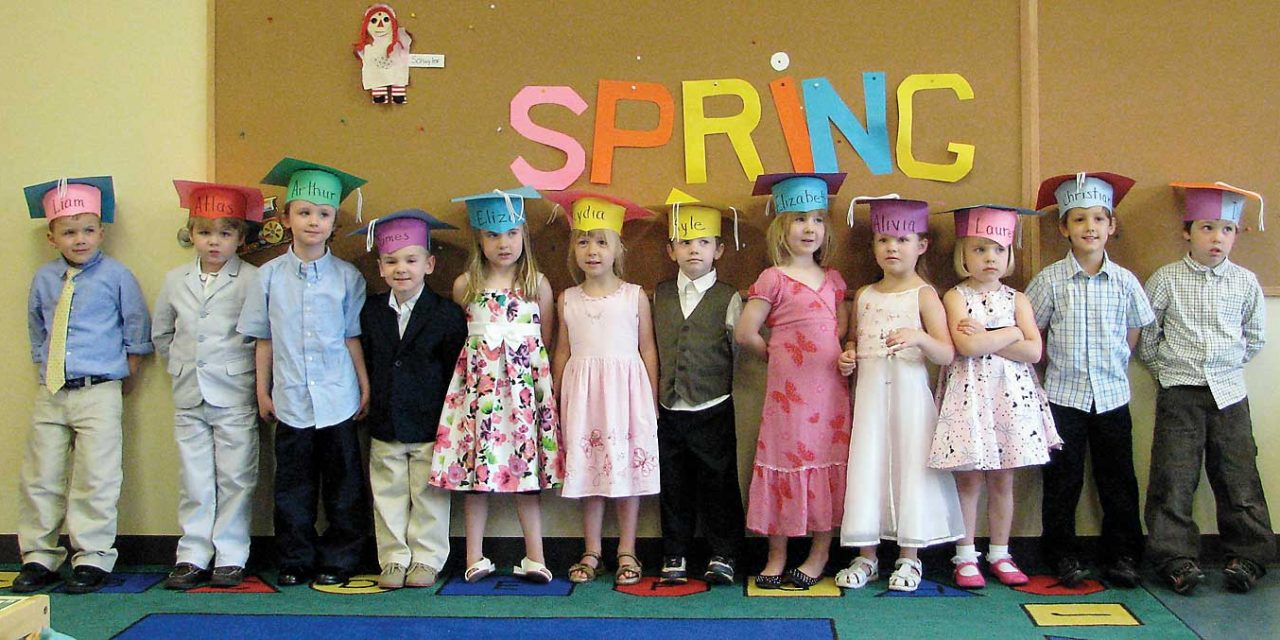 Kinderwood students graduate