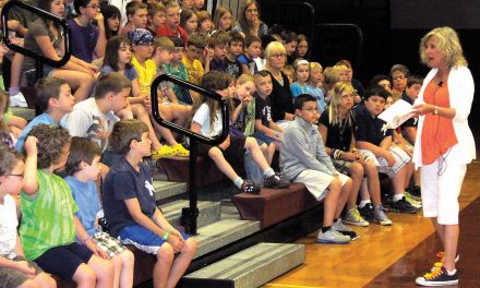 Author Coleen Paratore pays visit to Webb school