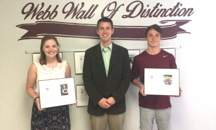 Two students make it onto the Webb Wall of Distinction