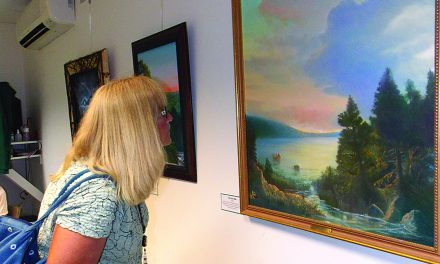 Beautiful paintings on display at the library and View