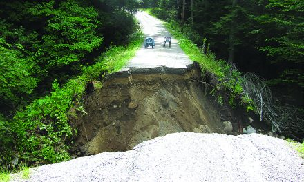 Ciffhouse Road has washed away