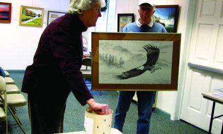 Franson display at Old Forge Library ends with raffle