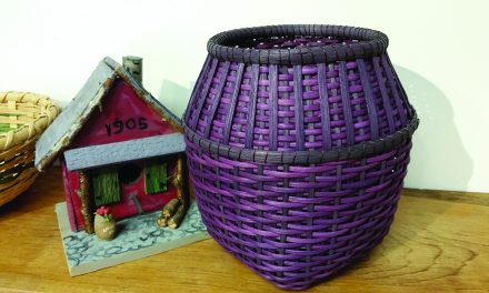 Baskets and Birdhouses are on display at the library