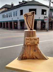Photo submitted The Jeff Craig Traveling Trophy will be awarded to the best float in the St. Patrick's Day Parade this weekend.