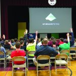 Maddie Phaneuf presents climate change assemblies at Webb school