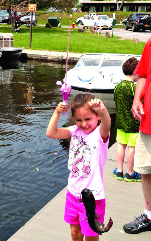 Photo submitted Snagging the big one always brings a big smile at the NYCOA Kids Fishing Derby.