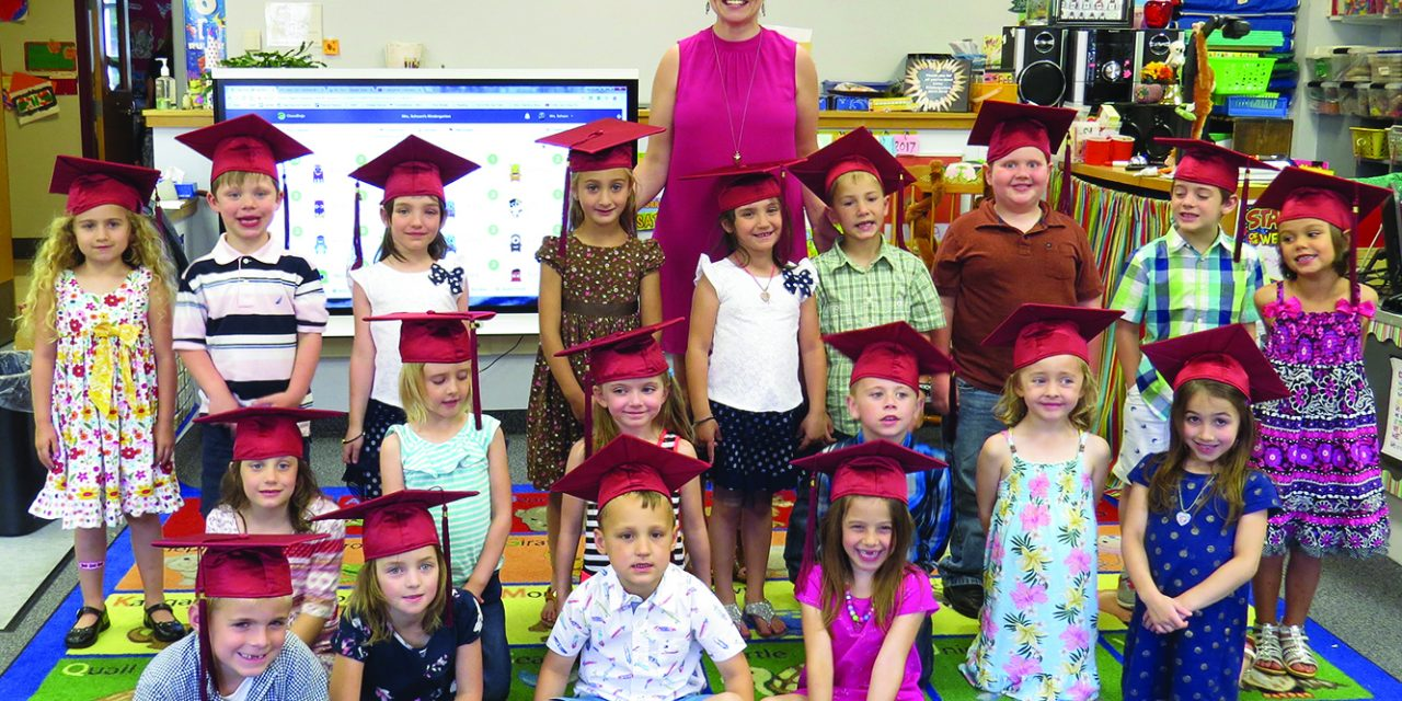 On their way: Town of Webb Class of 2029 graduates from kindergarten