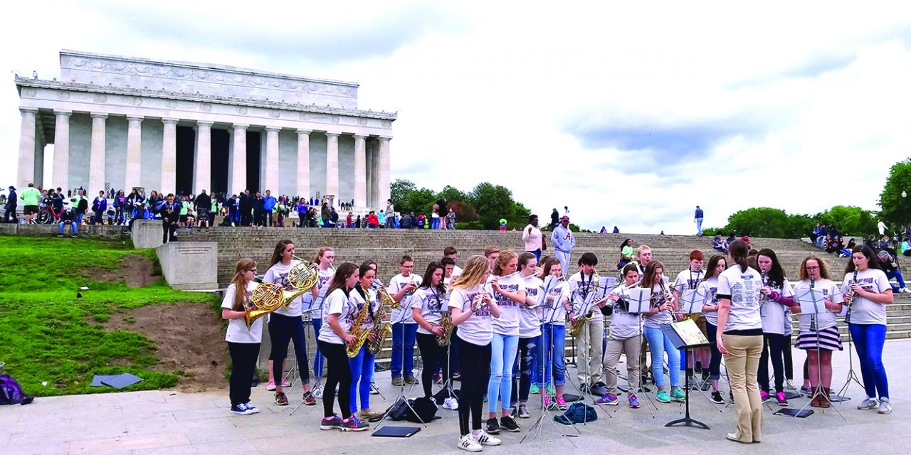 Band has an opportunity to play at the Lincoln Memorial