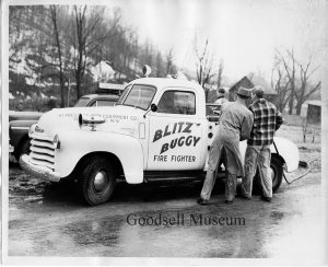 Photo submitted The Blitz Buggy was a homemade fire fighting truck that helped put out fires in and around Old Forge. You can learn more about the history of Old Forge on July 18.