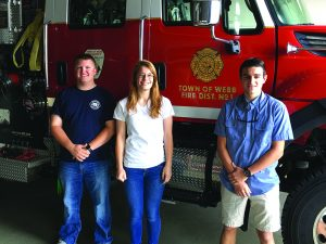 Photo submitted Three win scholarship from the OFFD  The three recipients of the Old Forge Fire Dept. ambulance service scholarship winners for 2017 are Brandon Palmer, Laura Rubyor and Eric Lenci. The department wishes them the best in their academic pursuits.