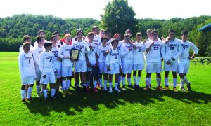 Photo submitted The boys' varsity soccer team won the West Canada Valley Kick Off Soccer Tournament on Sunday, Sept. 10.
